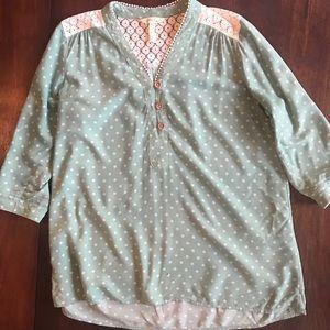 Matilda Jane Polka Dotted Blouse - Size M